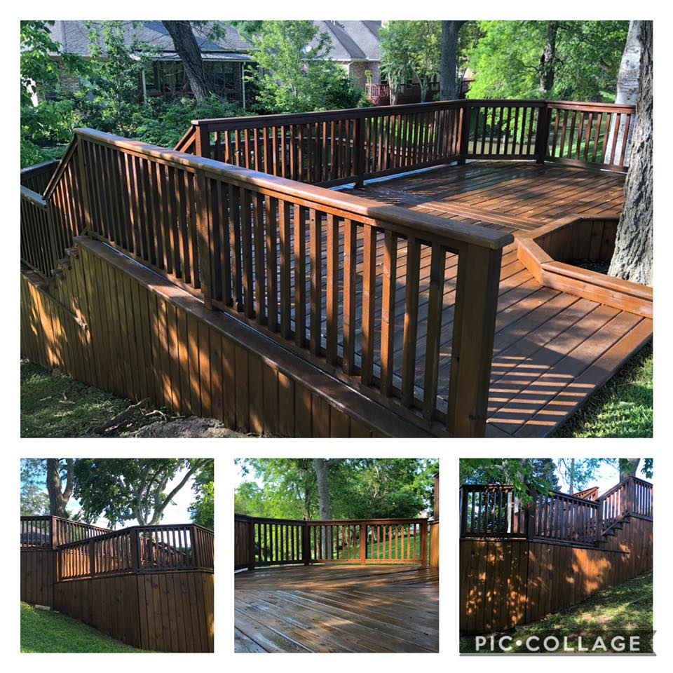 Deck After Power Washing and Staining